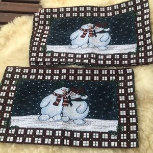 4 Christmas Winter Holidays ⛄️ Snowman placemats